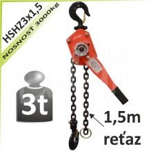 Kladkostroj ráčňový HSHZ3x1,5