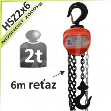 Kladkostroj reťazový HSZ2x6