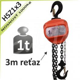 Kladkostroj reťazový HSZ1x3