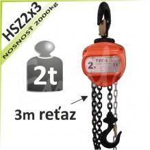 Kladkostroj reťazový HSZ2x3