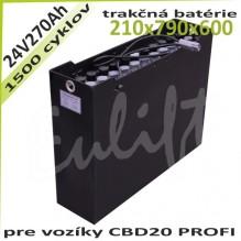 Trakčné batérie 24V / 270 Ah