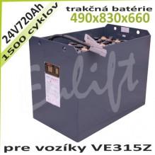 Trakčné batérie 24V / 720Ah