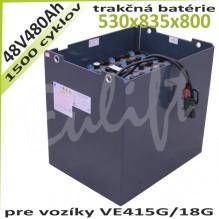 Trakčné batérie 48V / 480Ah