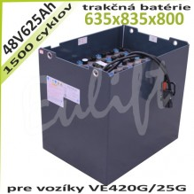 Trakčné batérie 48V / 625Ah