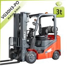 Vysokozdvižný vozík VG30 H3 plné obruče LPG