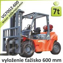 Vysokozdvižný vozík VG70G2 -600 LPG